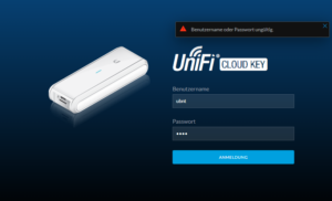 Benutzername Kennwort Cloud Key
