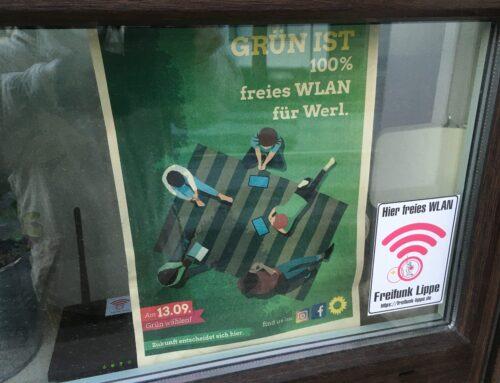 Grün ist 100% freies WLAN für Werl