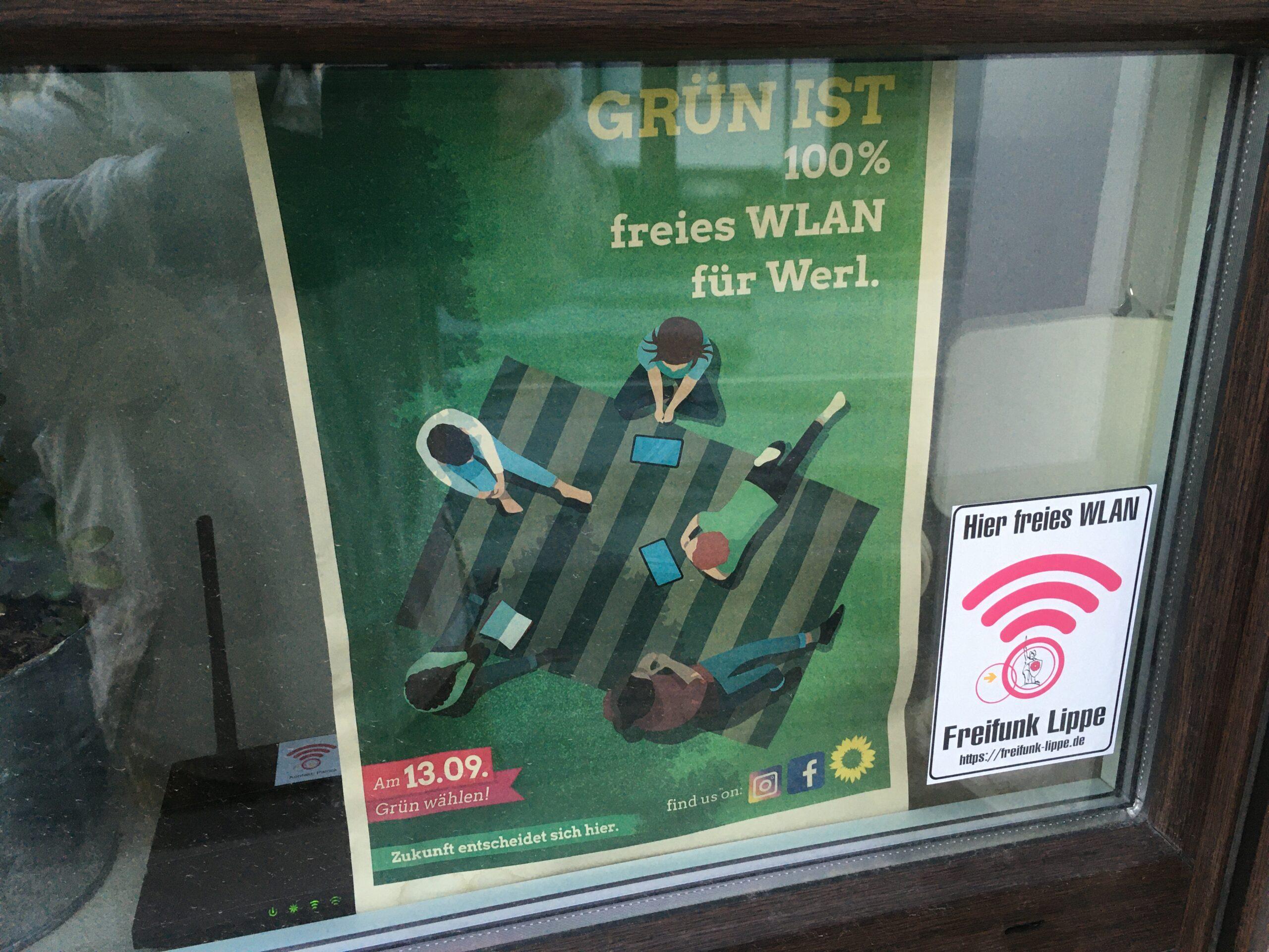 Grün ist freies WLAN für Werl